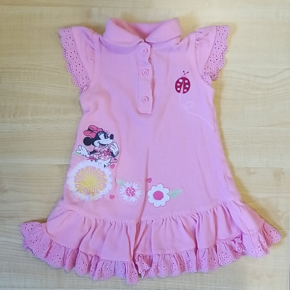 12-18m Cute Disney Baby Pink Minnie Mouse Dress